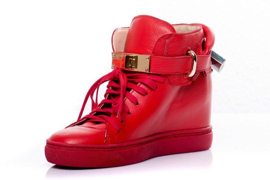 b65b19bd0107f3 Buty NEŚCIOR Czerwone Sneakersy WZ.022B 5005 | Sklep internetowy ...