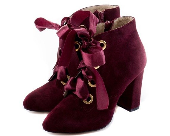 Buty MARGO Bordo Zamsz wz.280